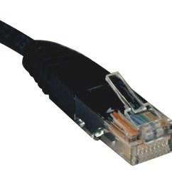 tripp lite 14ft cat5e cat5 350mhz molded patch cable rj45 m m black 14 [ 900 x 900 Pixel ]