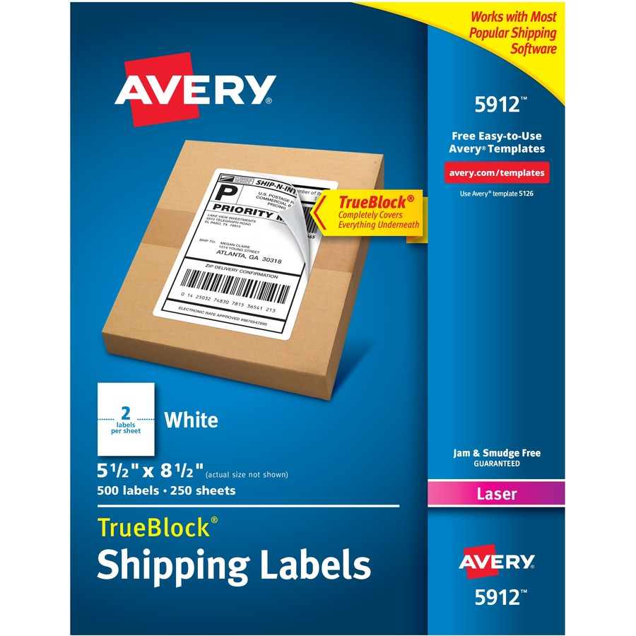 avery shipping labels with