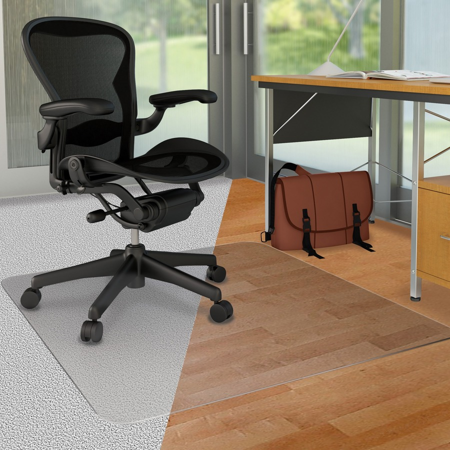 desk chair mat for carpet comfy bedroom chairs defcm23442fduo deflecto duomat hard floor chairmat office