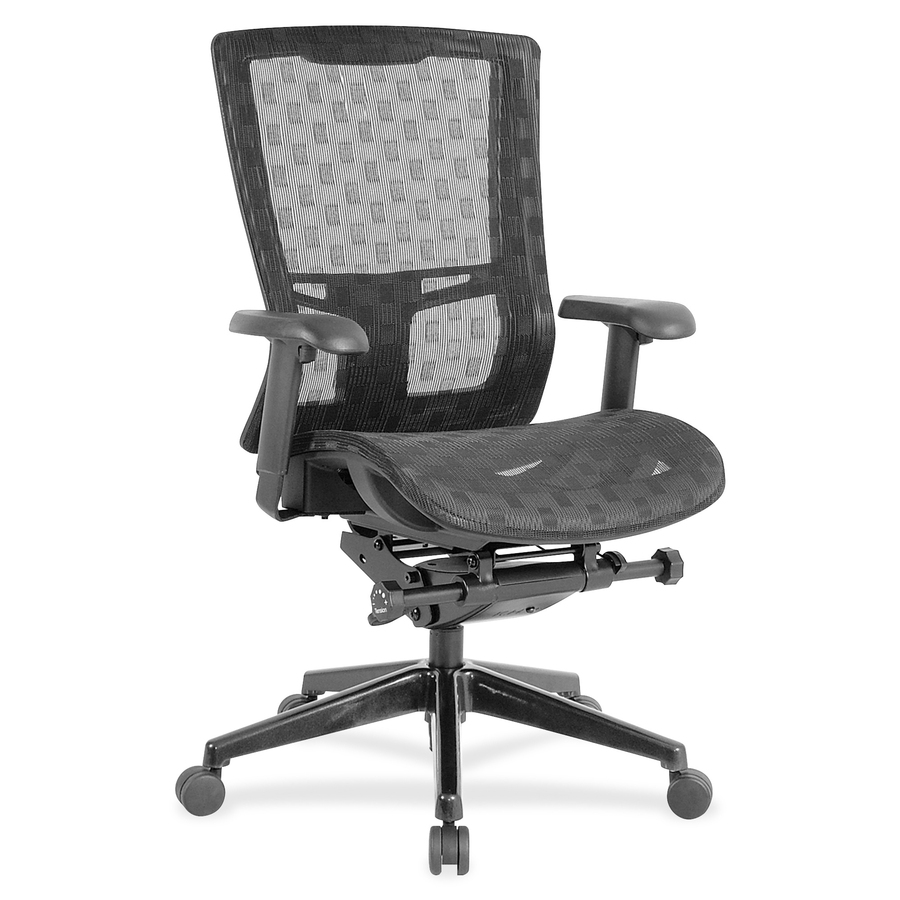 mesh back chairs for office arm chair covers ebay llr85560 lorell checkerboard design high