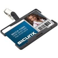 SICURIX Rigid Plastic Horizontal Badge Reel Card Holder