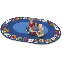 Carpets for Kids Reading By The Book Oval Area Rug ...