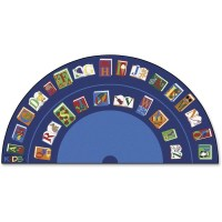 Carpets for Kids Reading/The Book Semi-circle Rug - CPT2634