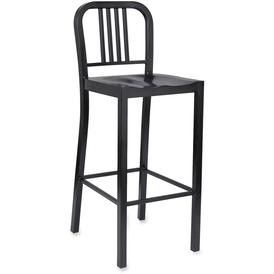 White Bistro Chairs Lorell Bistro Bar Chairs Metal Powder Coated Frame Black 16