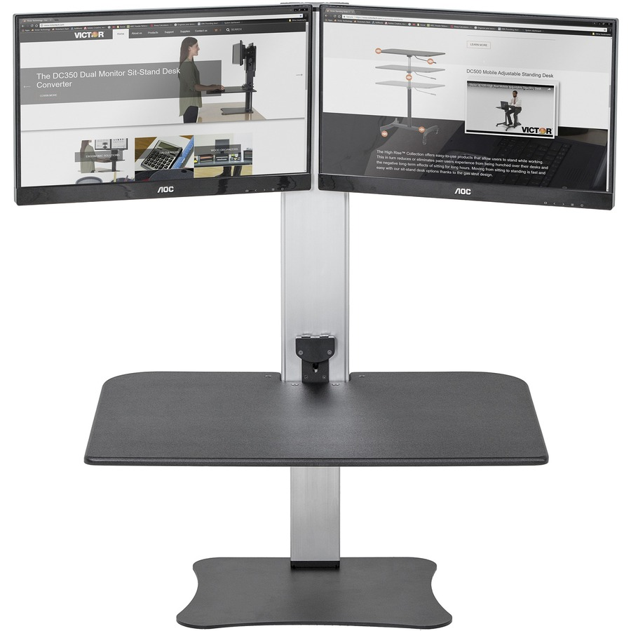 Victor High Rise Electric Dual Monitor Standing Desk