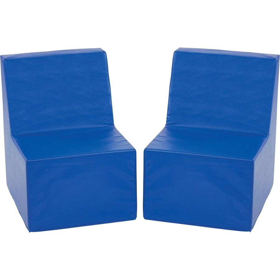 Toddler Soft Chairs Ecr4kids Toddler Cushioned Chairs Blue 20