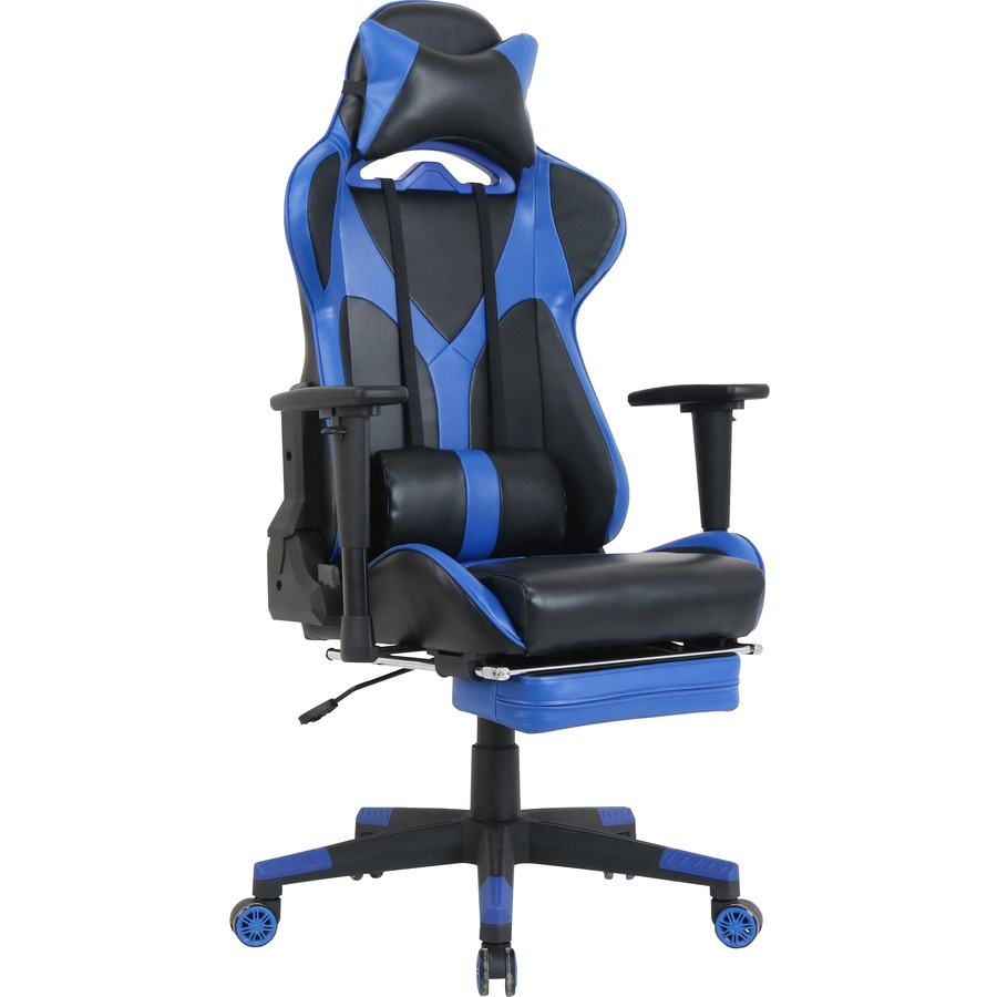 Foldable Office Chair Lorell Foldable Footrest High Back Gaming Chair Blue Black Seat Blue Black Back 5 Star Base 44 6
