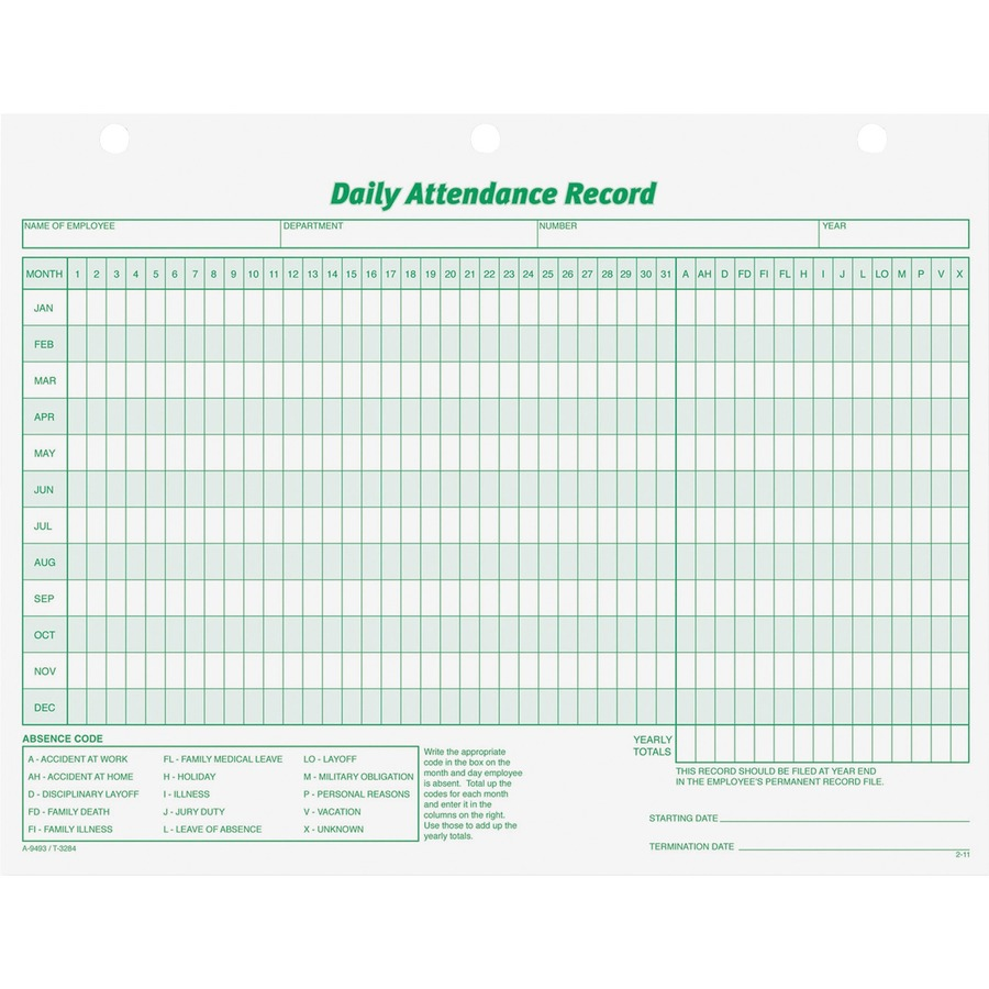 Personal Medical Record Form