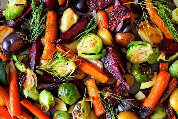 Winter Food Warmers roasted vegetables