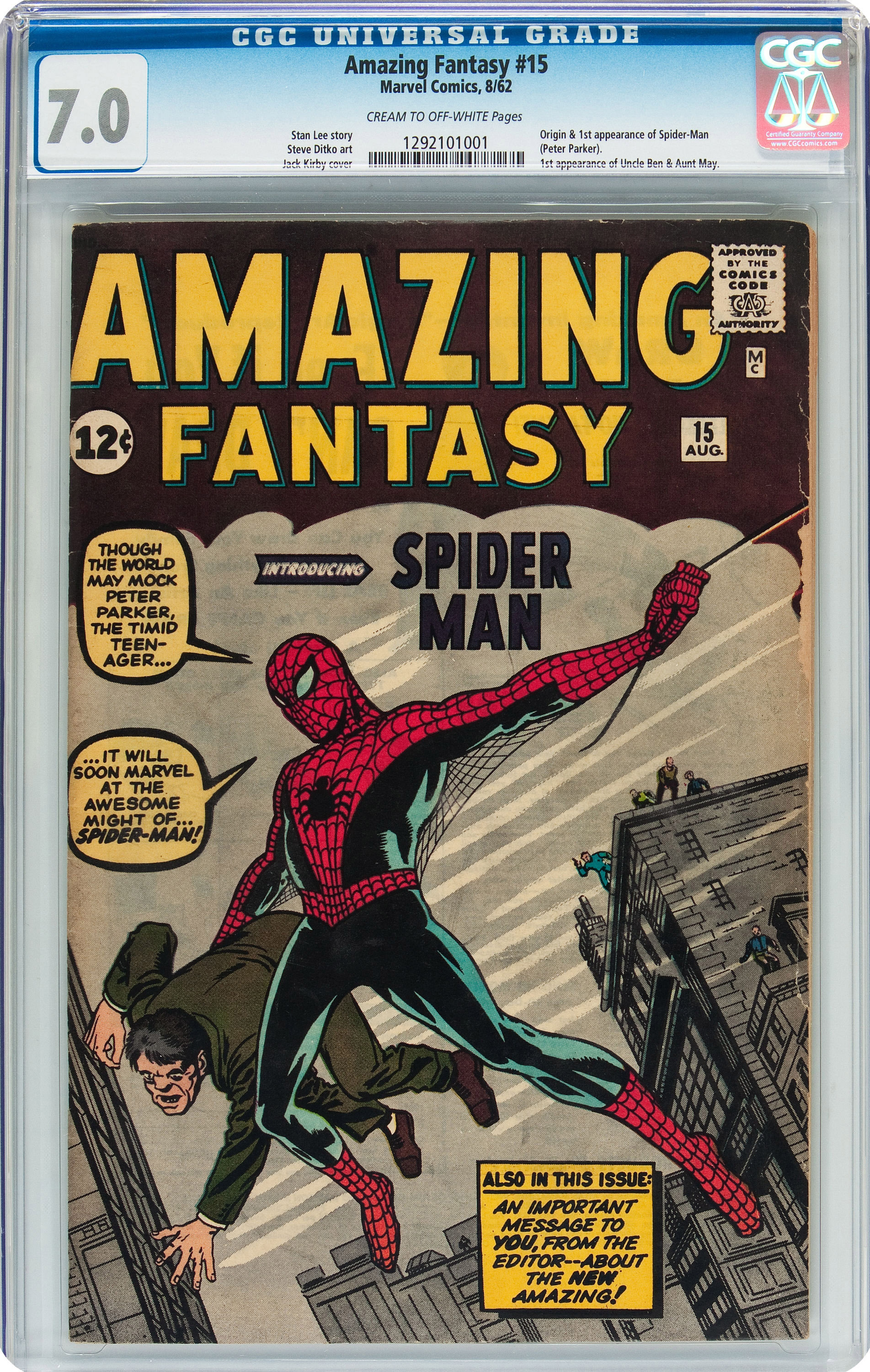 A Spider Man Comic Book Just Sold For Over 450 000 In