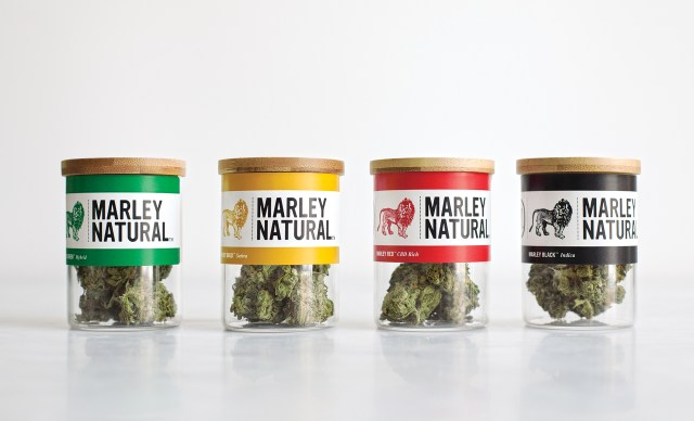 Marley Natural's line of cannabis, branded for iconic reggae musician Bob Marley.