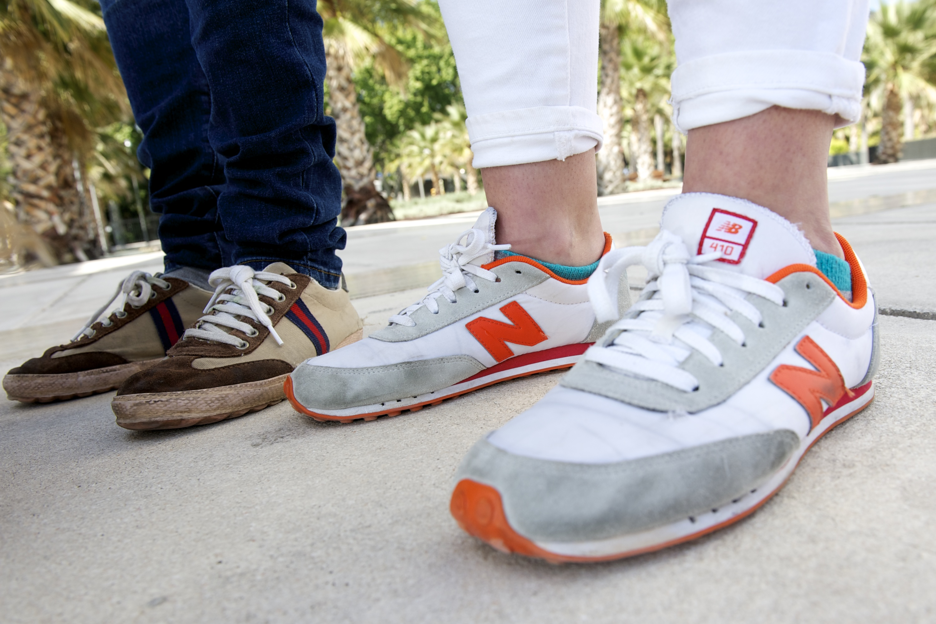 new balance sneakers burned