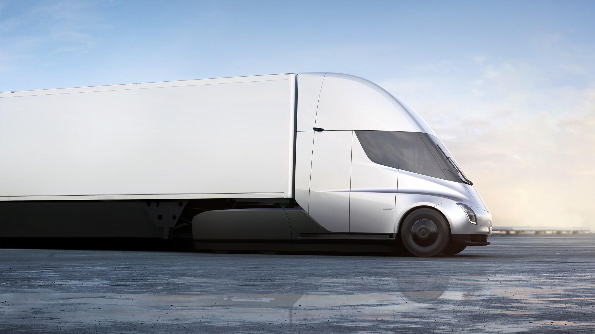 hight resolution of inside tesla s new electric semi truck