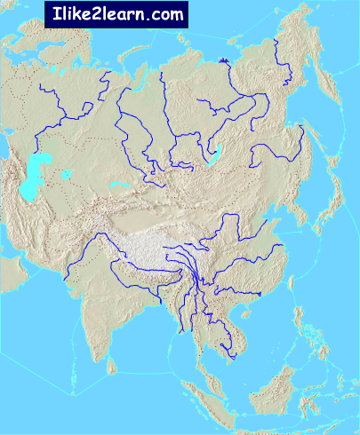 Asia Bodies Of Water Map : bodies, water, Asian, Bodies, Water, Asia., Ilike2learn, Interactive