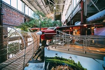 plane exhibit at Outdoor Adventure Center