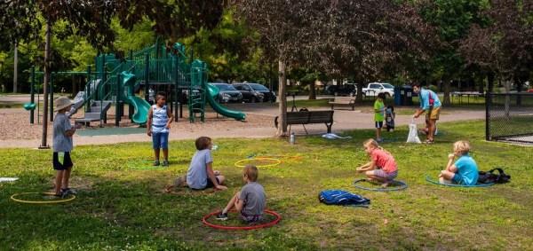 Rec Plus outdoor Matthews Park socially distanced