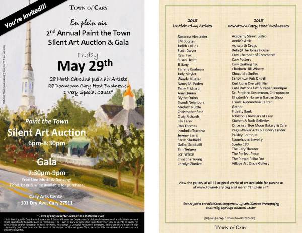 En Plein Air 2nd Annual Paint Town Silent Art Auction