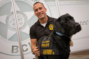 BCI Special Agent Josh Rammel and K-9 Reptar