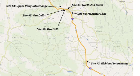 Bridge repair project location map