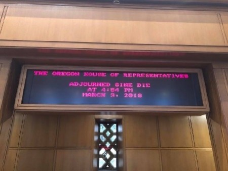 House Chamber Displays 2018 Session Adjournment