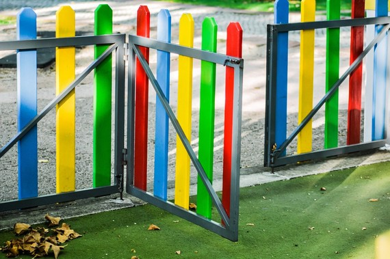 school gate