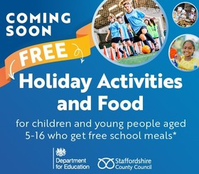 Holiday activities and food = for children and young people aged 5-16 who get free school meals