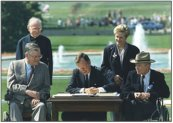 George H.W. Bush signing the ADA into law