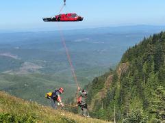 Coast Guard medevacs hiker near Saddle Mountain, Ore.