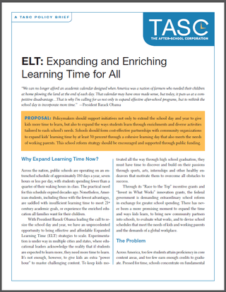 Expanded Learning Time in Action: Initiatives in High-Poverty and High-Minority Schools and Districts
