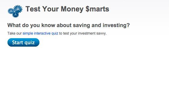 Interactive quiz on money knowledge