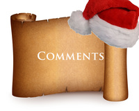 Comment Christmas Scroll