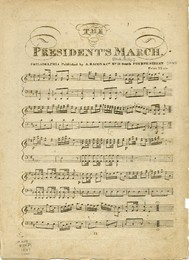 Sheet music copy of The President's March