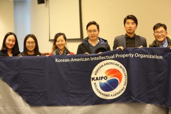 Thomas Hong and members of the Korean American IP Association