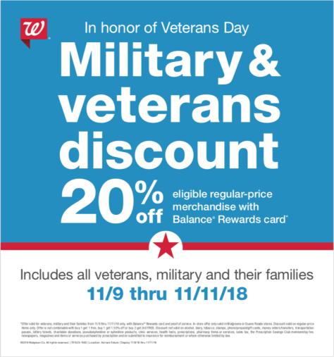 Veterans Day Discount