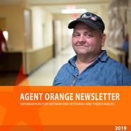 Agent Orange Newsletter promo image. Man in hallway.