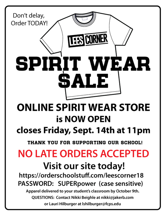 Lees Corner Spirit Wear