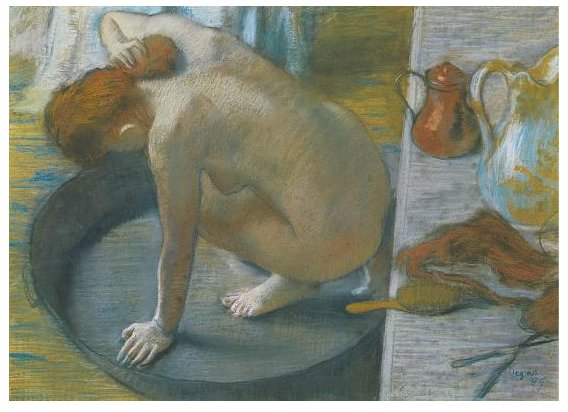 """the tub by edgar degas essay This 5 page report discusses edgar degas (1834-1917), french painter and sculptor the writer also briefly compares two of degas best-known paintings, """"dancer on."""
