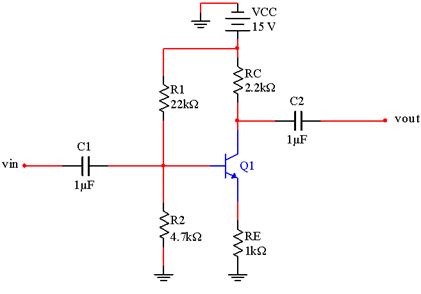 Solved: Given A BJT Unloaded Amplifier Shown In Figure 1 B