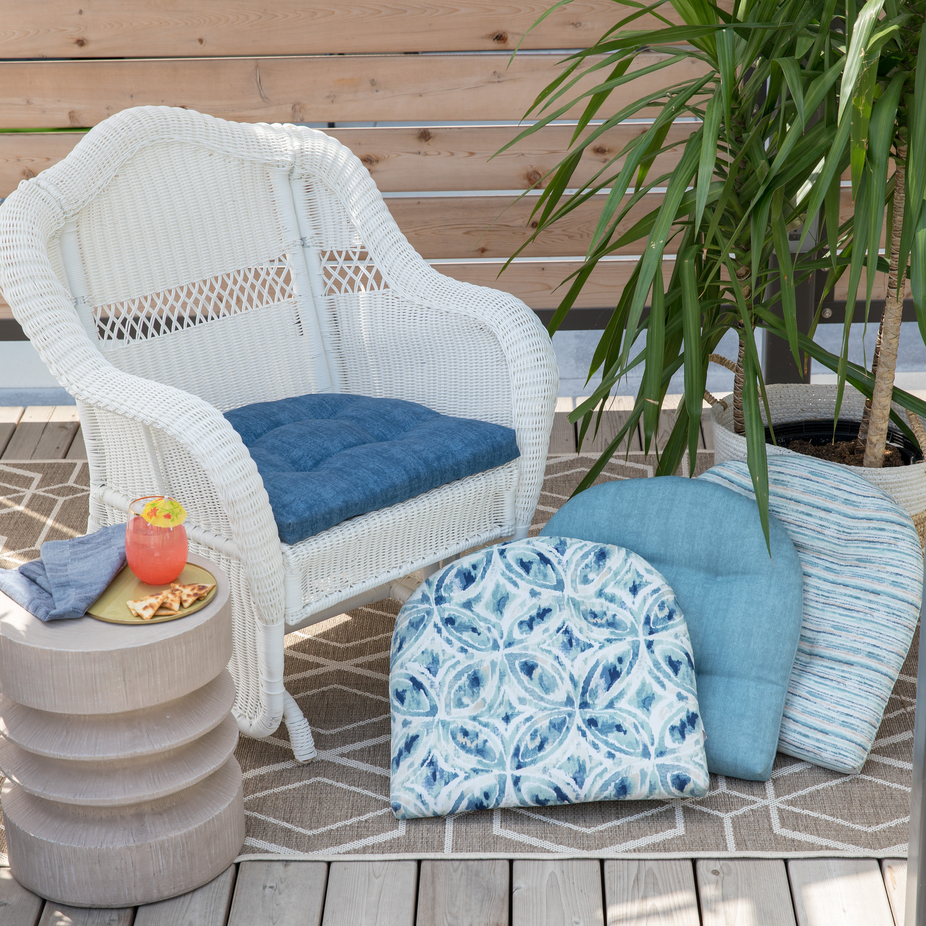 cushions for wicker chairs swivel chair furniture outdoor hayneedle belham living new harbor cushion
