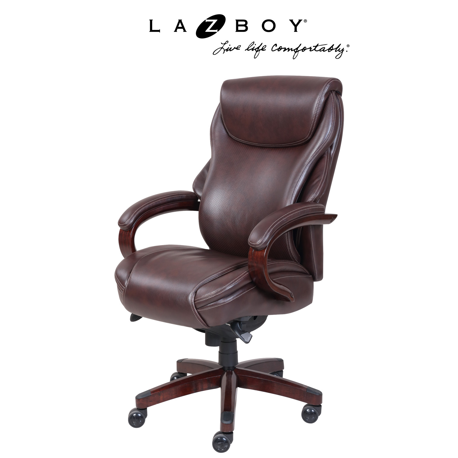 la z boy trafford big and tall executive office chair vino stokke harness chairs hayneedle hyland coffee