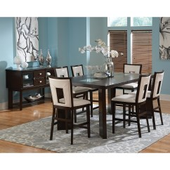 Steve Silver Dining Chairs Blue Upholstered Chair Delano Counter Height Table Espresso Hayneedle