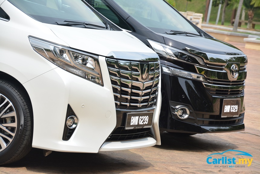 harga all new vellfire cicilan grand veloz review 2016 toyota alphard 3 5 2 luxury express both mpvs get led illuminated tail lights but the sports more aggressive looking colourless lenses whilst retains a