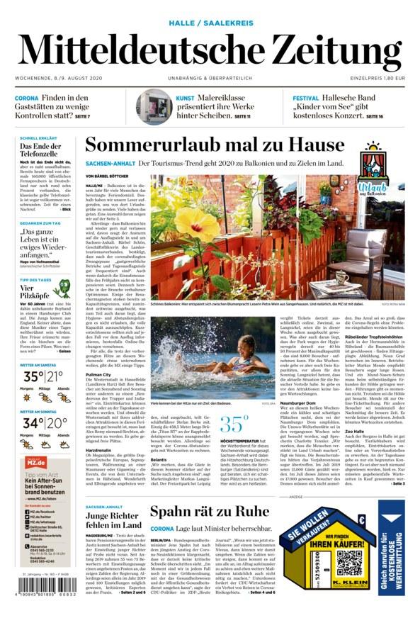 Mitteldeutsche Zeitungt - Tageszeitung als ePaper im iKiosk lesen