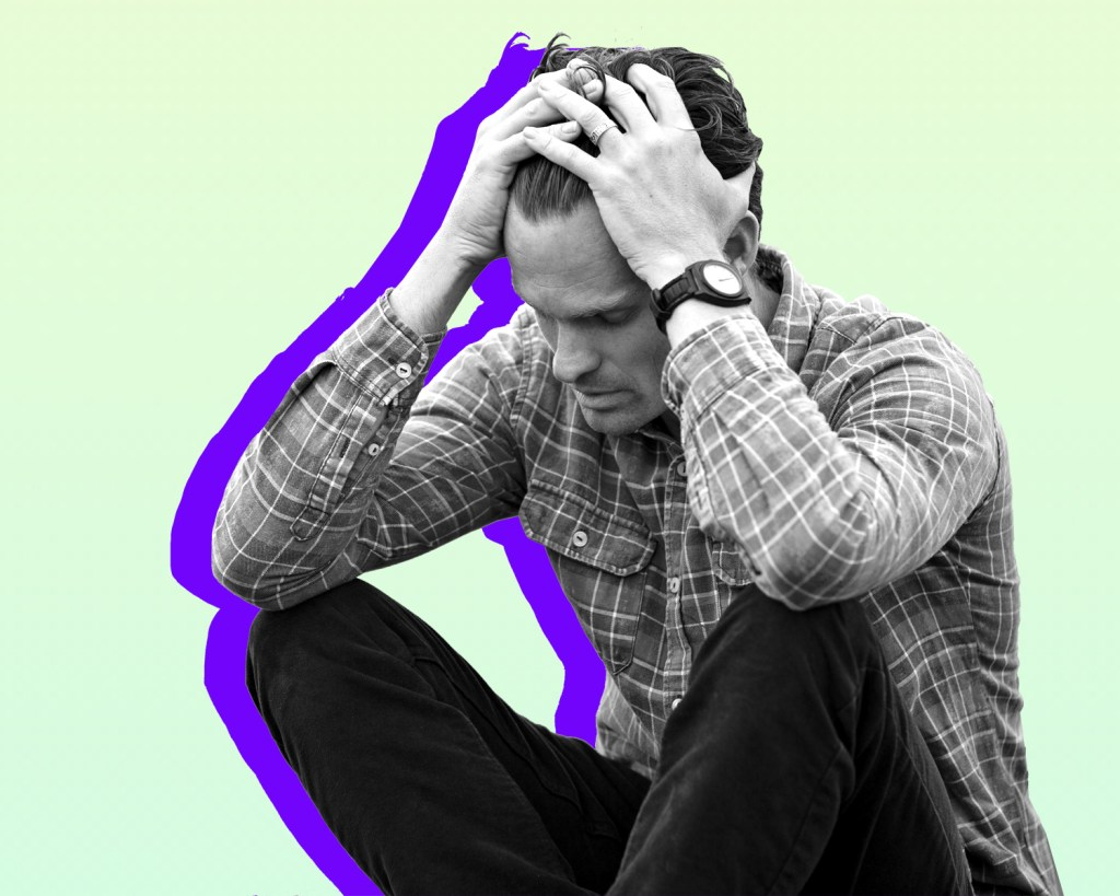 Man experiencing stress in relationships