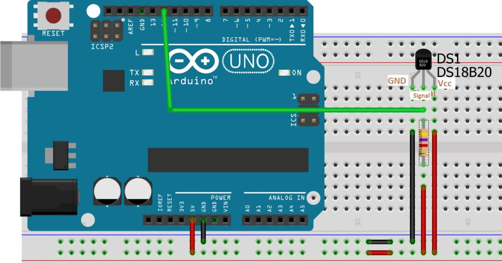 Interfacing DS18B20 Temperature Sensor With Arduino and ESP8266 : 8 Steps - Instructables