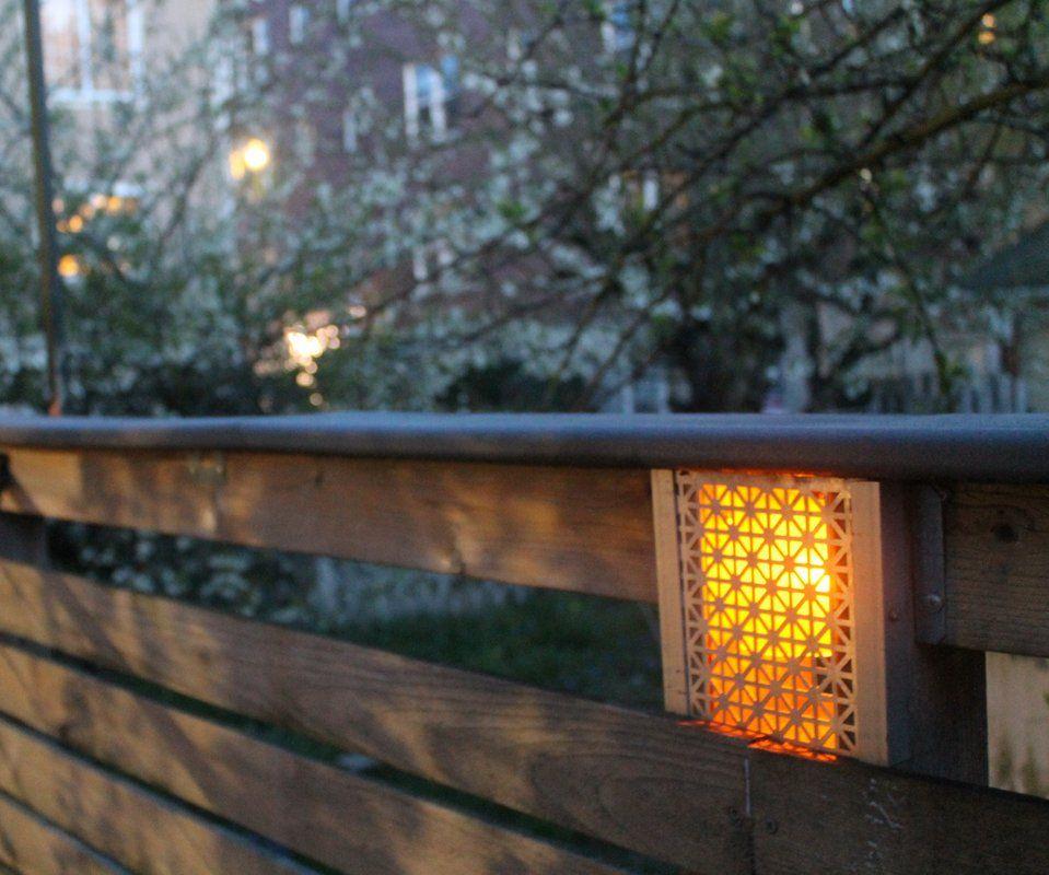 built in low voltage fence lighting 9
