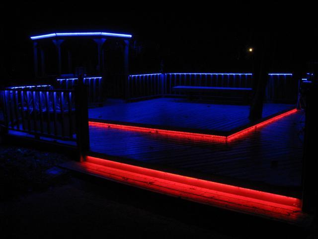 led deck lighting in color 12 steps