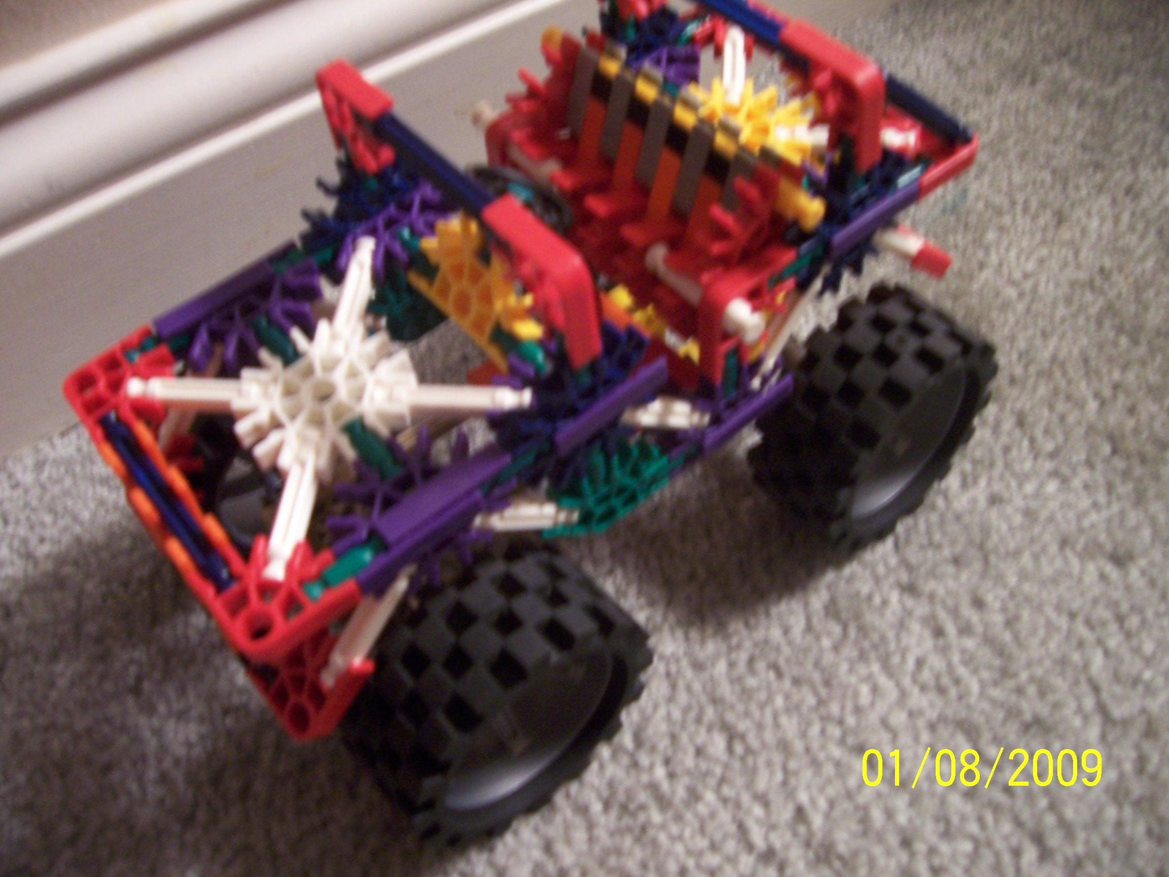 Knex Monster Jeep : 11 Steps - Instructables