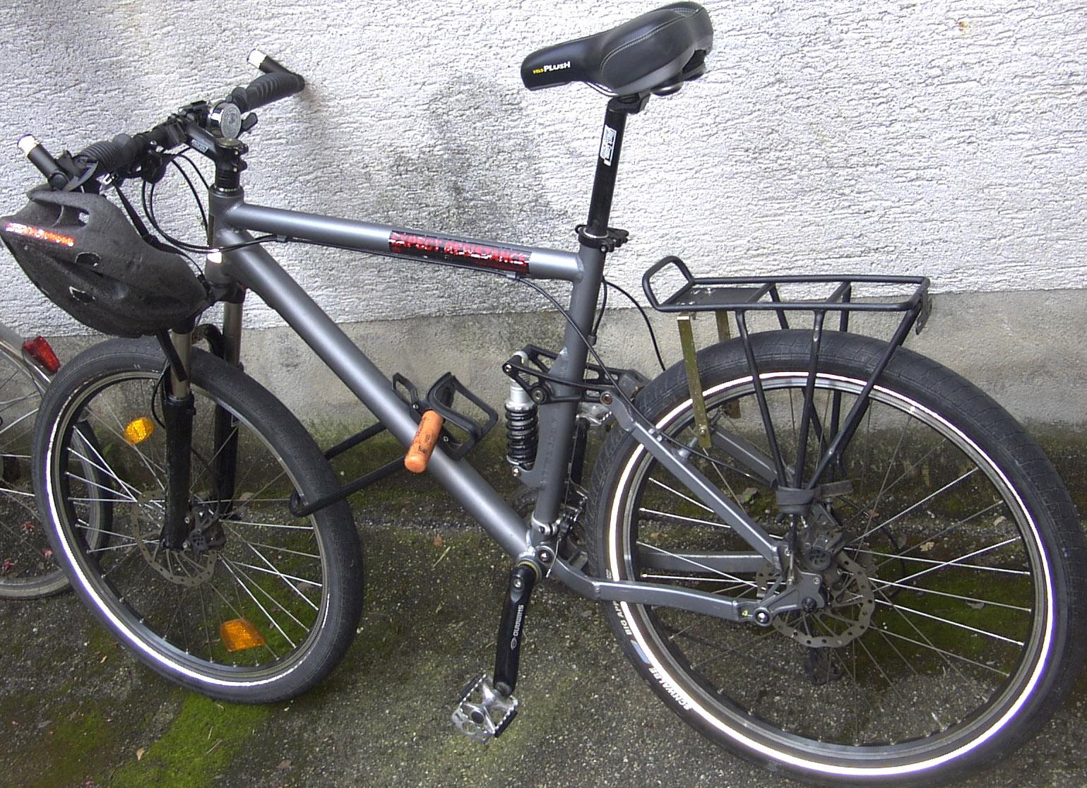 bike rack for full suspension mountain