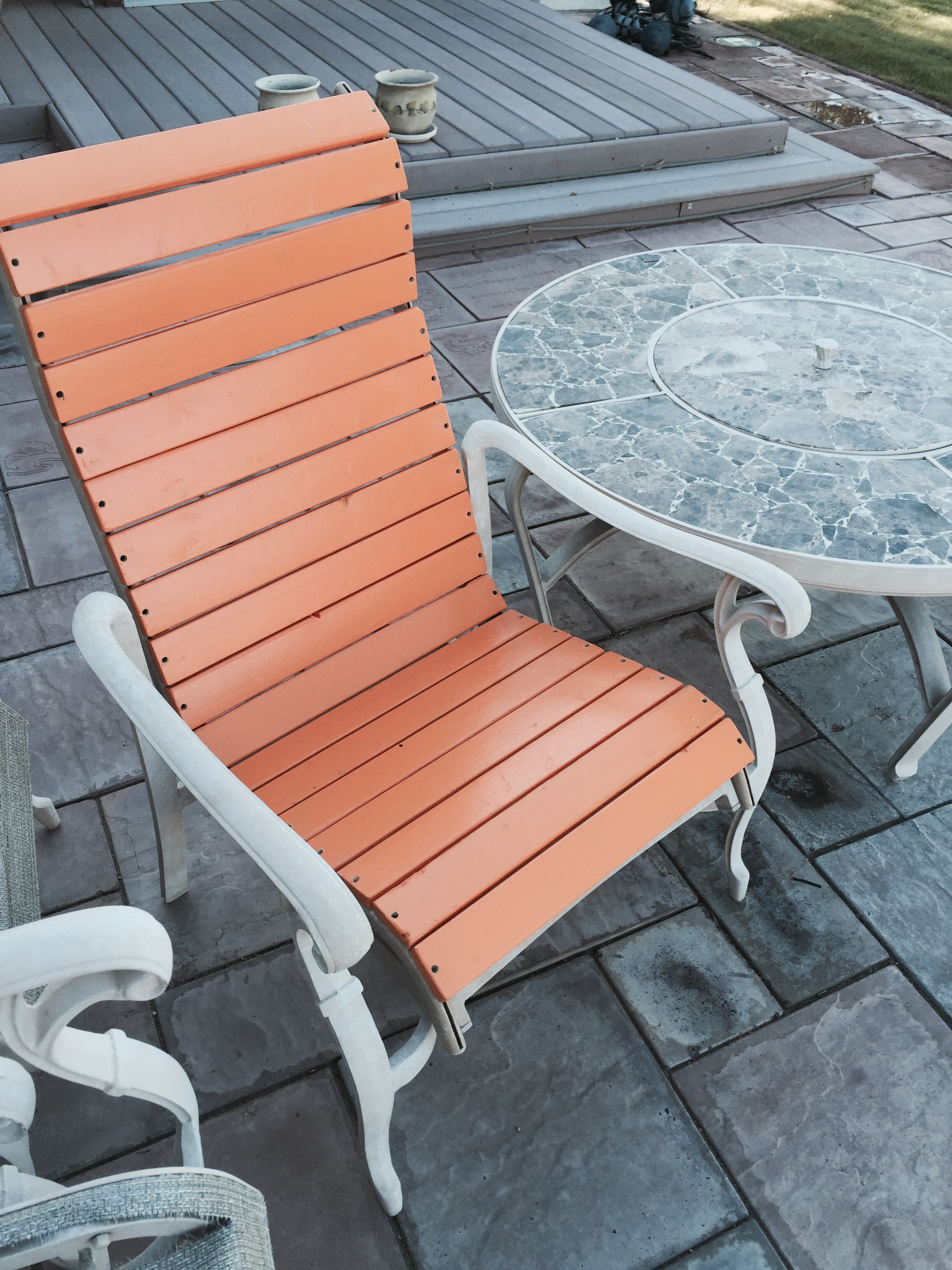 patio chair re build 5 steps with
